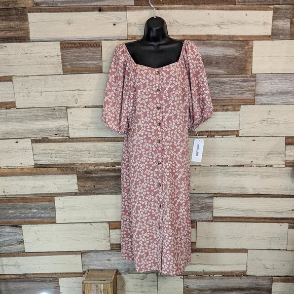 Mimi Chica Dresses & Skirts - Mimi Chica Button Off Shoulder Down Dress NWT  XL